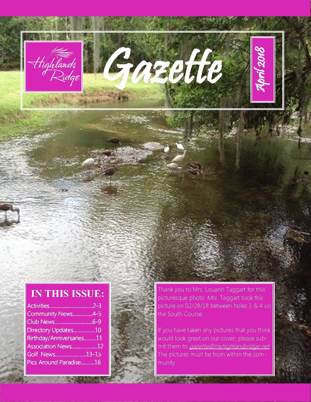 April 2018 Gazette