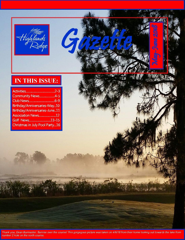 May-June 2018 Gazette