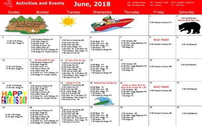 June 2018 Activities and Events