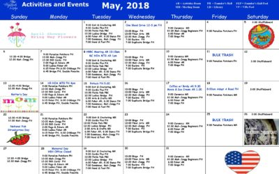 May 2018 Activities and Events