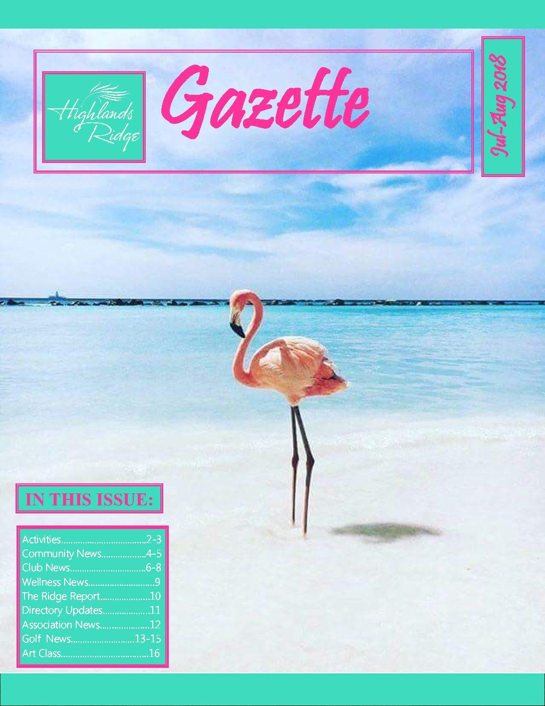 July – August 2018 Gazette
