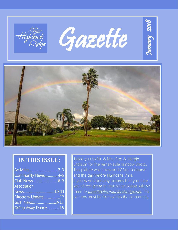January 2018 Gazette