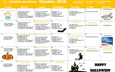 October 2018 Activities and Events