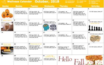 October 2018 Wellness Calendar