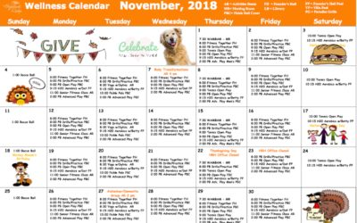 November 2018 Wellness Calendar