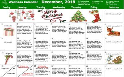 December 2018 Wellness Calendar