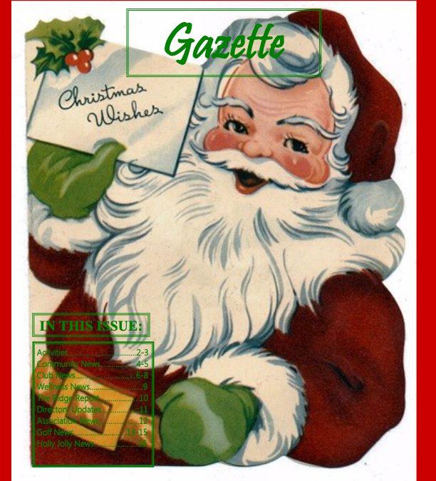 December 2018 Gazette