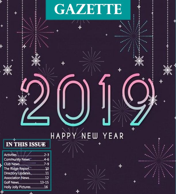 January 2019 Gazette