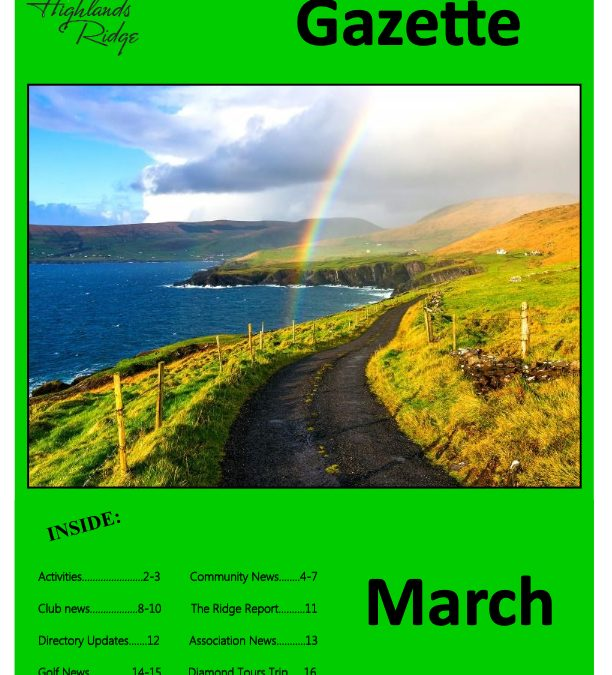 March 2019 Gazette