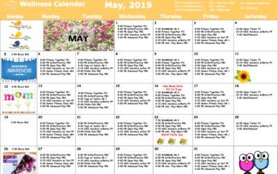 May 2019 Wellness Calendar