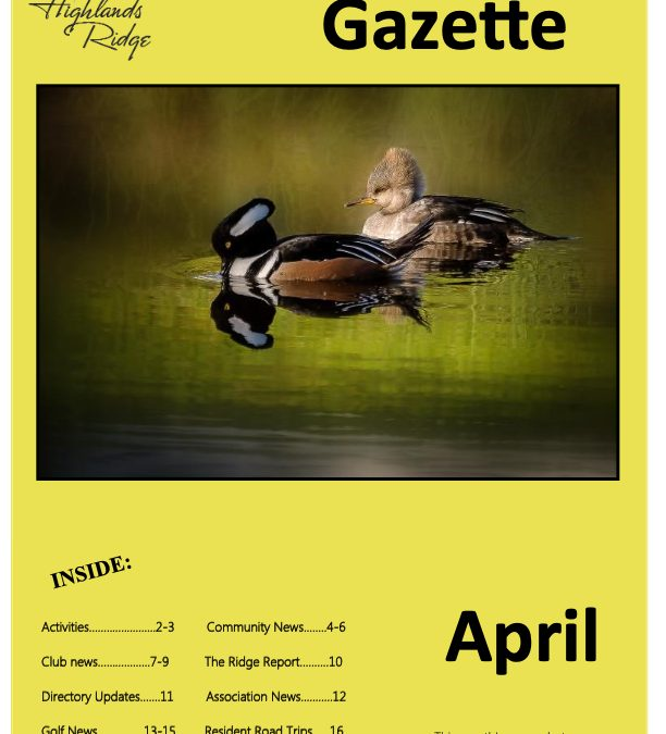 April 2019 Gazette
