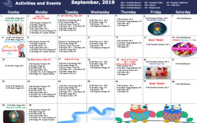 September 2019 Activities and Events