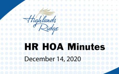 HR HOA Minutes 12-14-2020